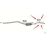 Труба вихлопная Ford Transit Connect 1.8 TDCi